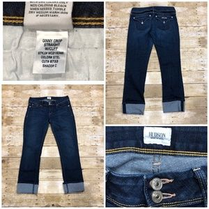 Hudson Jeans Ginny Crop Straight w Cuff USA Sz 29